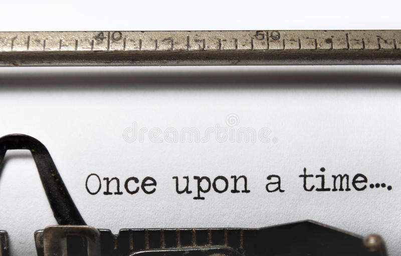 Once upon a time. The beginning of a story on an old fashioned typewriter royalty free stock image
