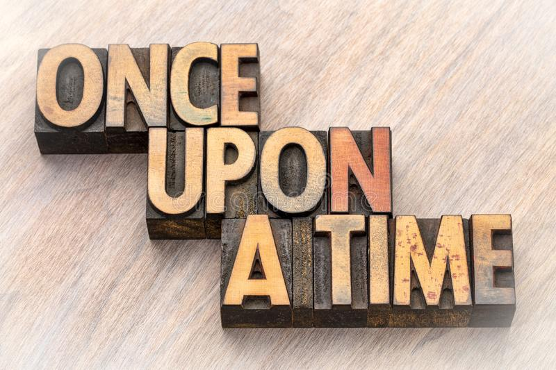 Once upon a time opening phrase stock photography