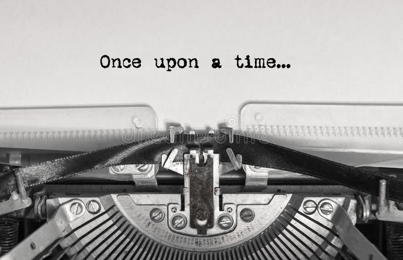 Once upon a time... the text is typed royalty free stock image