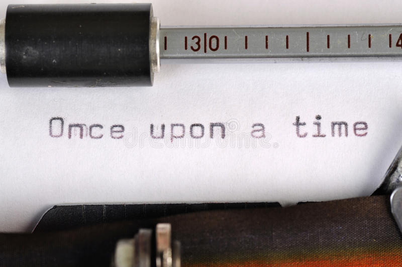Download Once Upon A Time Typed With Old Typewriter Stock Image - Image: 28912631