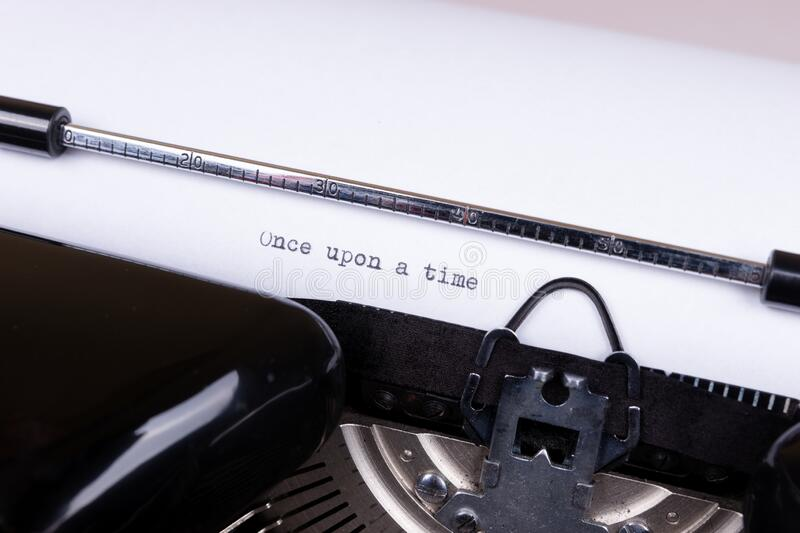 Once upon a time, written with an old typewriter royalty free stock images