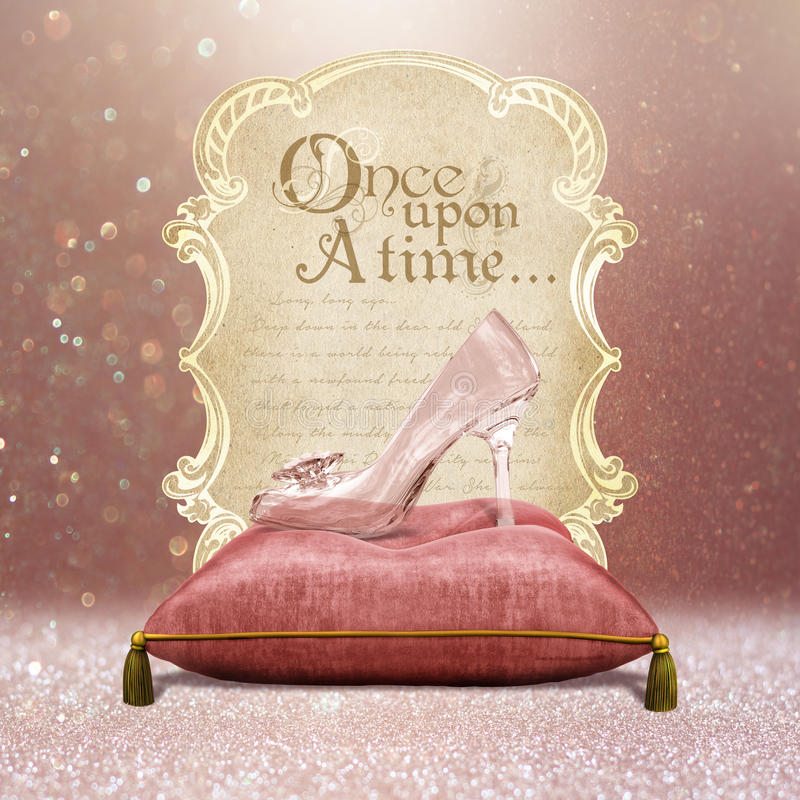 Free Once Upon A Time Enchanted Glass Slipper Stock Image - 55956631