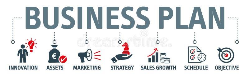 Oncept da ilustração do cvector do plano de negócios da bandeira ilustração stock
