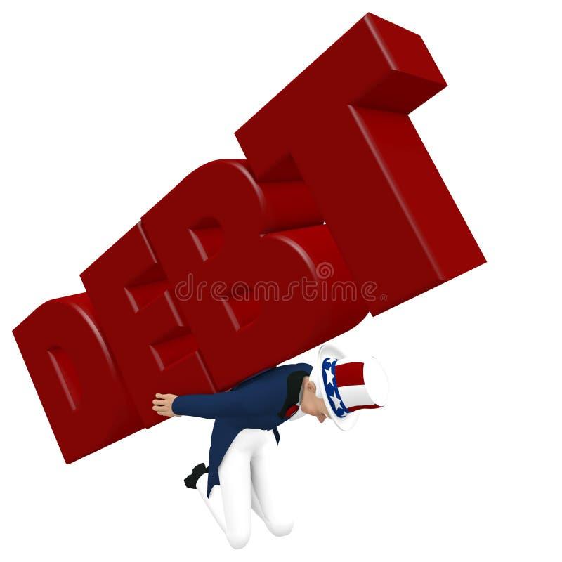 Oncle Sam - dette de transport illustration de vecteur