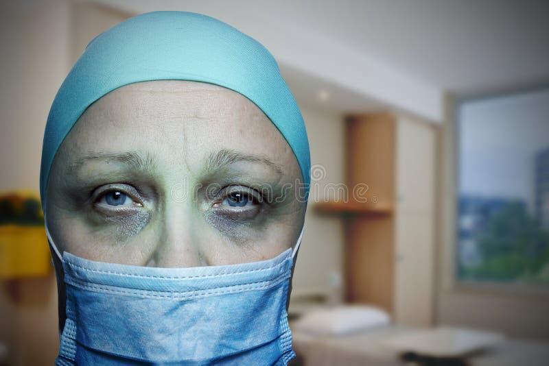 Oncologico in centro ospedaliero immagini stock libere da diritti