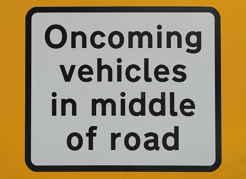 Download Oncoming vehicles sign stock image. Image of details - 23886749