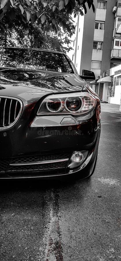 Ond bil fotografering för bildbyråer