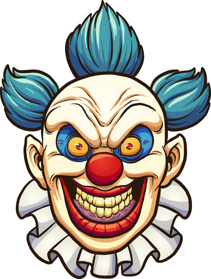 Ond clown royaltyfri illustrationer