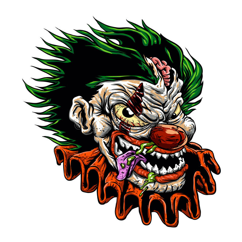 Ond clown för levande död vektor illustrationer