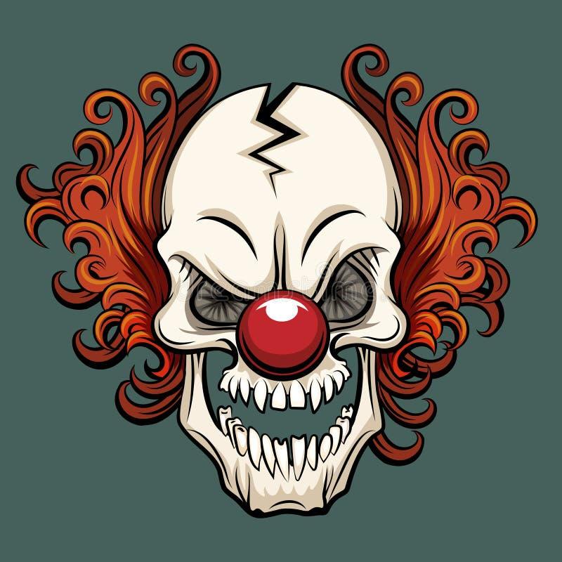 Ond clown för vektor stock illustrationer