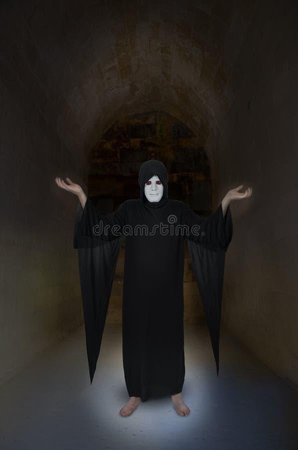 Ond demon, jäkel, trollkarl, trollkarl, trollkarl Isolated arkivbild