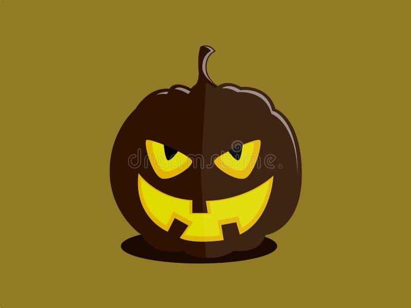 Ond halloween pumpa-rackare stock illustrationer