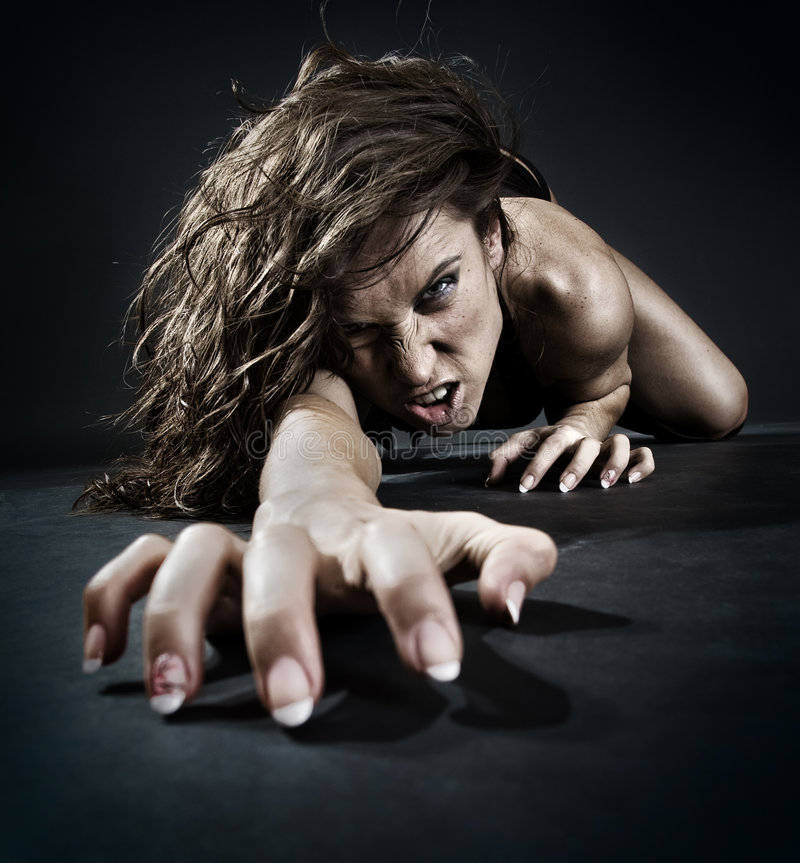 ond kvinna arkivfoto