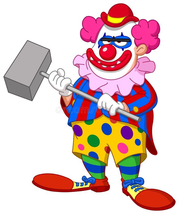 Ond läskig clown royaltyfri illustrationer