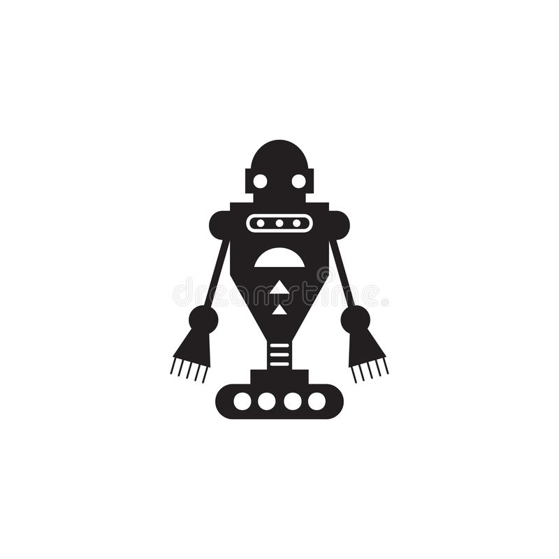 ond robotsymbol Beståndsdel av robotar för advertizingtecken, mobila begrepps- och rengöringsdukapps Symbol för websitedesignen o royaltyfri illustrationer