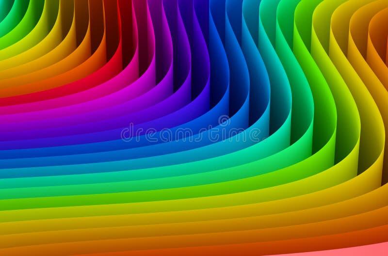 Onda abstracta de los colores del arco iris libre illustration