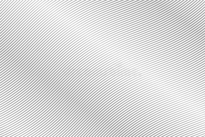 Onda abstrata Gray Stripes Linha do movimento Linhas curvadas ilustração do vetor ilustração stock