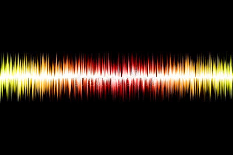 Onda acústica abstracta ilustración del vector