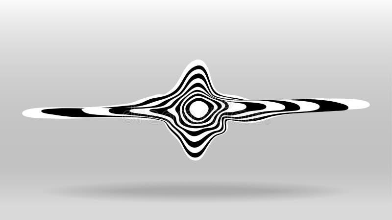 Onda acústica de discurso derretida gomosa ilustración del vector