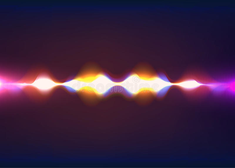 Onda acústica de discurso Pulso abstracto Ilustración del vector ilustración del vector