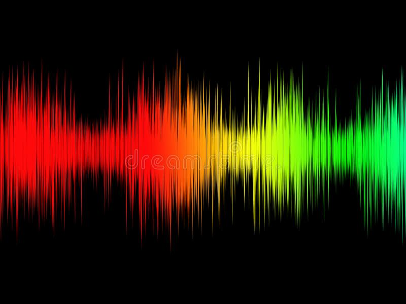 Onda acústica de la música audio blanco y negro del extracto imagen de archivo libre de regalías