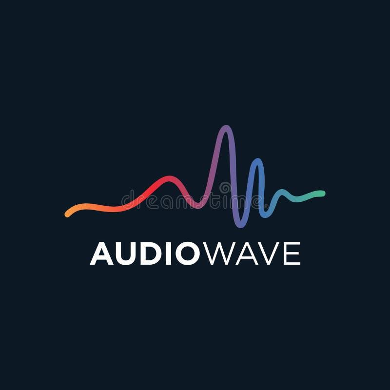 Onda acústica de la música, tecnología audio, ejemplo del vector libre illustration