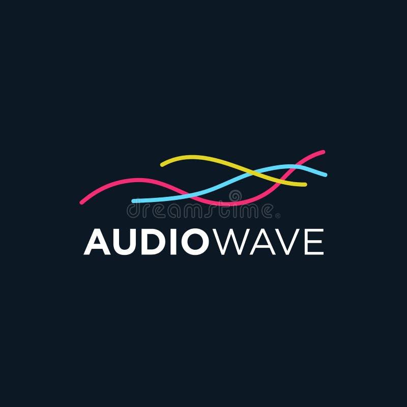 Onda acústica de la música, tecnología audio, ejemplo del vector ilustración del vector