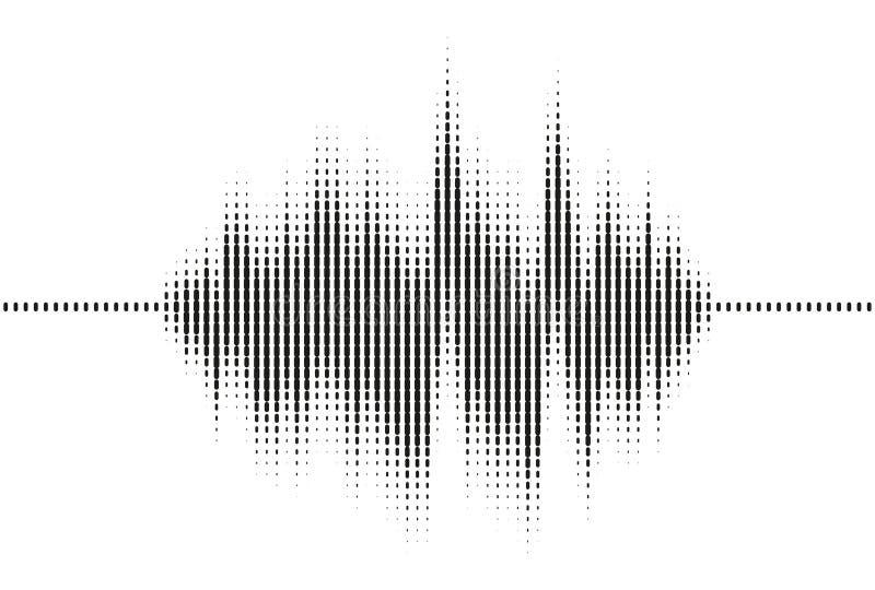 Onda acústica del equalizador del vector ilustración del vector