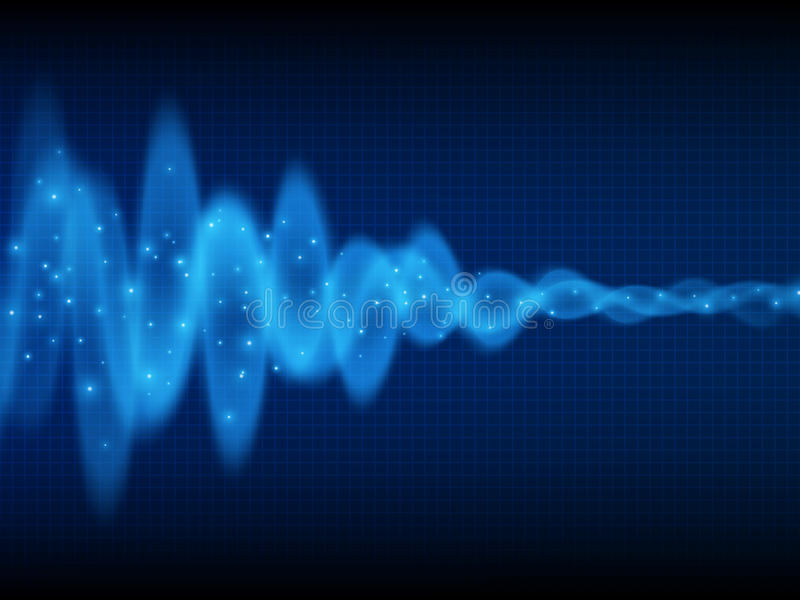 Onda acústica Fondo de la música Flujo de energía Diseño audio de la onda Fondo abstracto de la tecnología imágenes de archivo libres de regalías