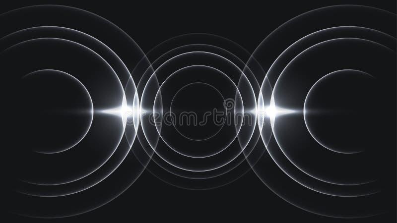 Onda acústica mínima de tres ciclos stock de ilustración