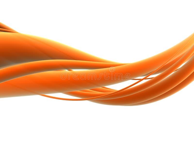 Onda anaranjada stock de ilustración