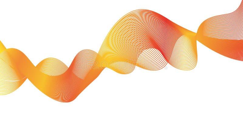 Onda anaranjada abstracta imagenes de archivo