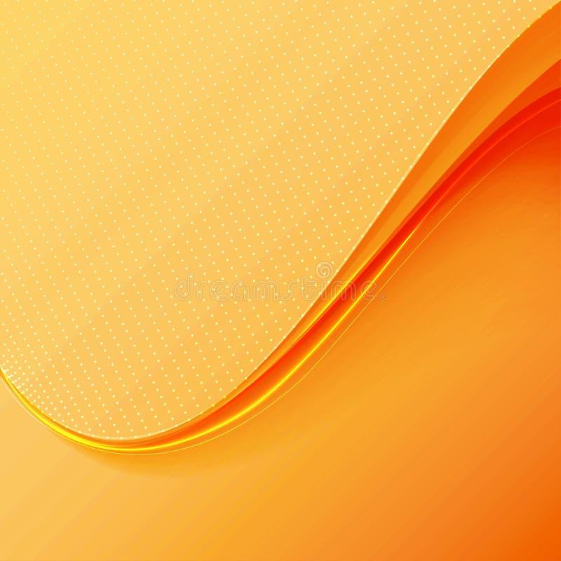 Onda arancione illustrazione vettoriale
