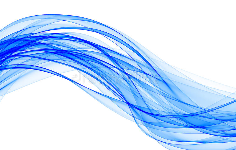 Onda azul ilustração stock