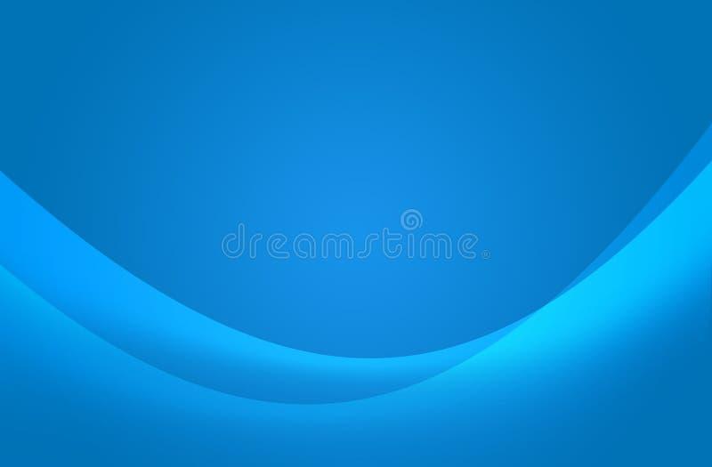 Onda azul abstracta libre illustration