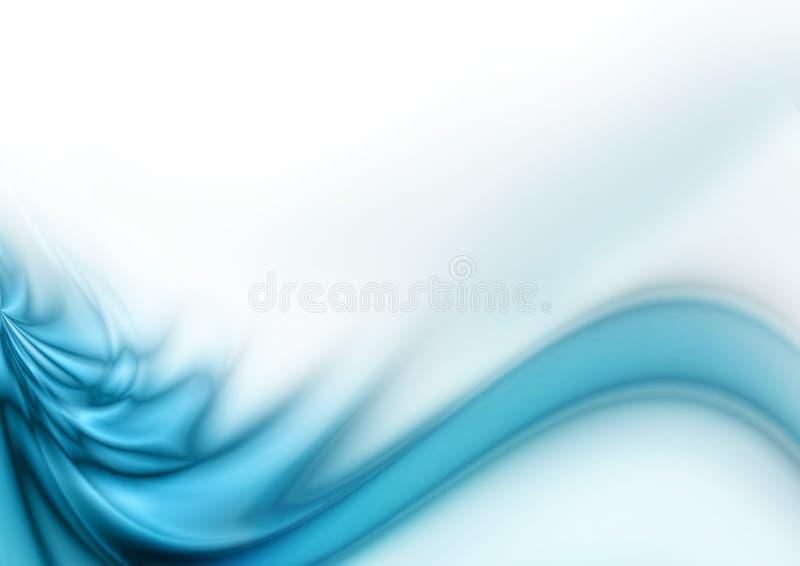 Onda azul abstracta stock de ilustración