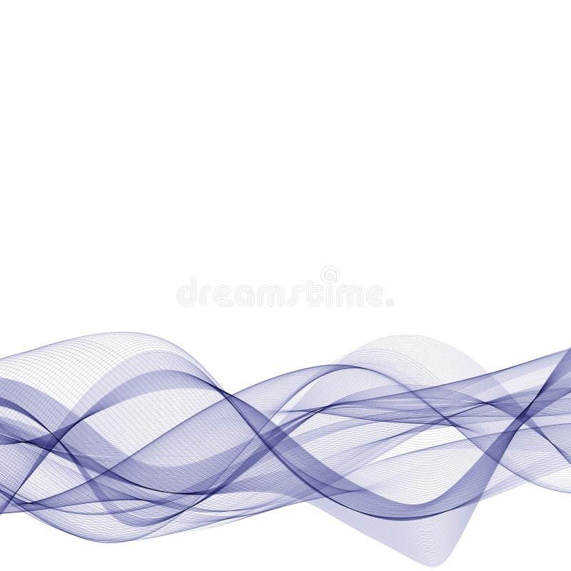 Onda azul del vector L?neas abstractas Disposici?n de publicidad EPS 10 stock de ilustración