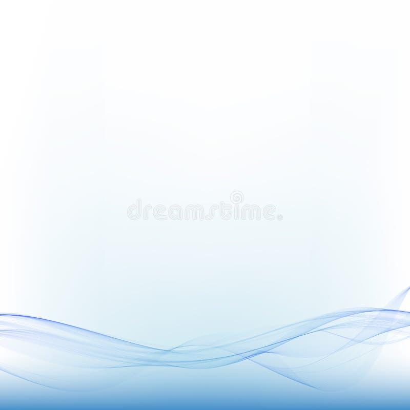 Onda azul do sumário do mar Ilustração do vetor Disposição de propaganda ilustração stock