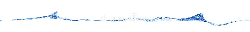 Onda azul larga foto de archivo