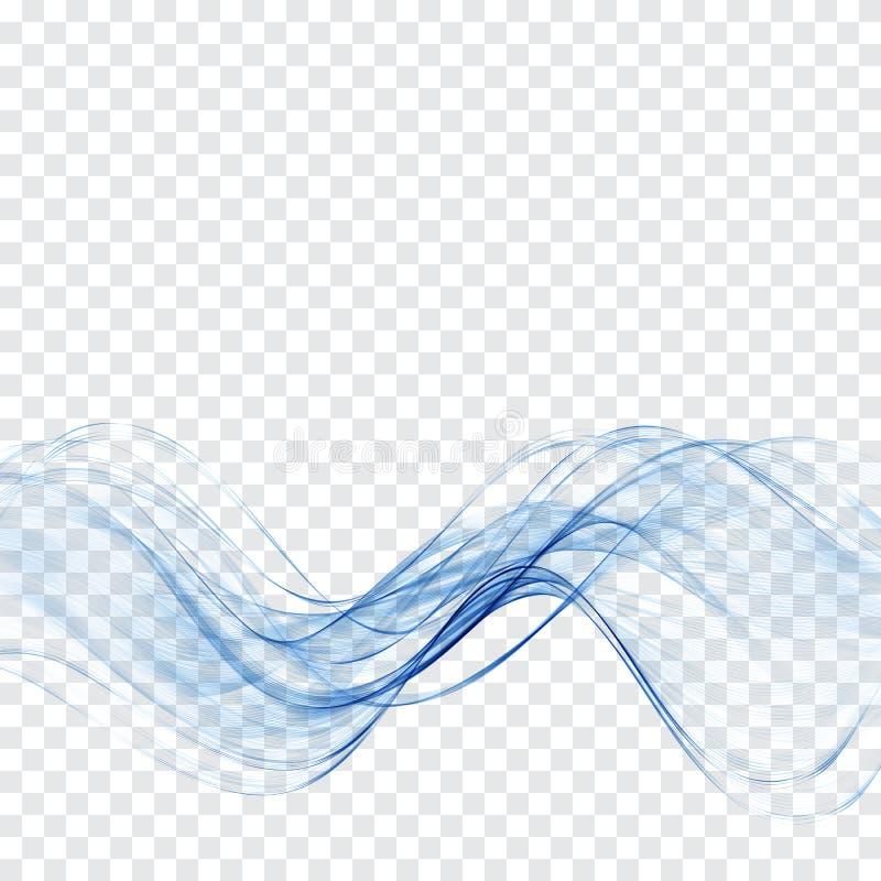 Onda azul transparente da água O sumário acena o fundo ilustração do vetor