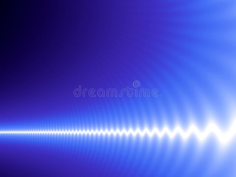 Onda bianca sull'azzurro illustrazione di stock