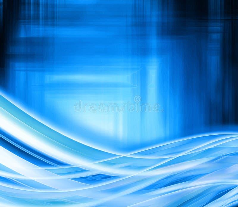 Onda blu illustrazione di stock