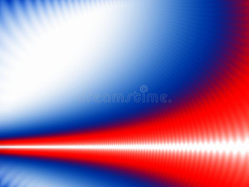 Onda branca em azul e em vermelho ilustração do vetor