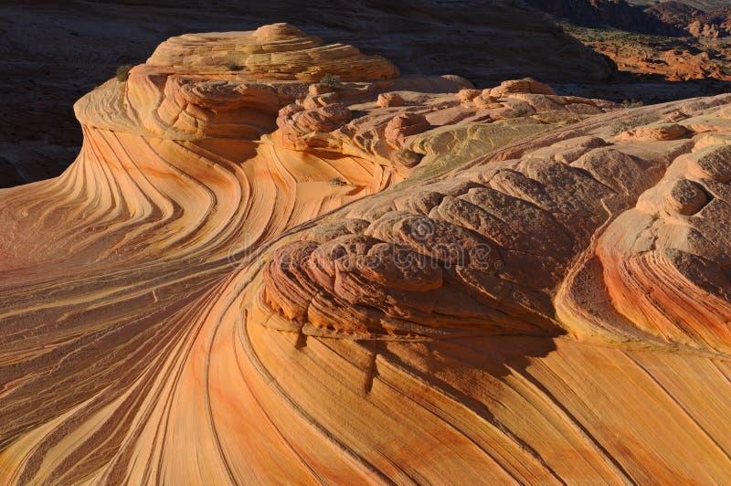A onda, Buttes do chacal fotografia de stock