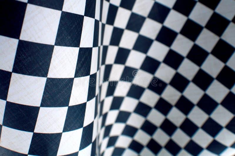 Onda Checkered foto de stock royalty free