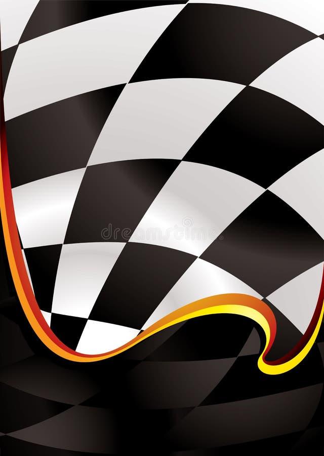 Onda Checkered dourada ilustração do vetor