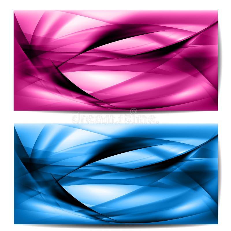 Onda coloreada extracto en fondo ilustración del vector