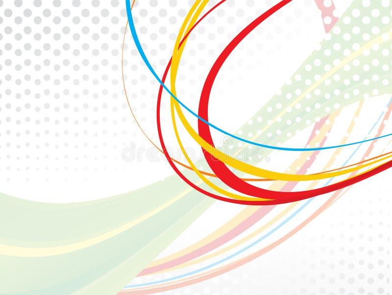 Onda colorida abstrata do arco-íris ilustração do vetor
