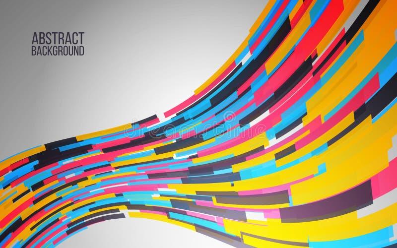 Onda colorida dinámica Fondo abstracto para el web, cartel, bandera Diseño moderno del color Ilustración del vector ilustración del vector