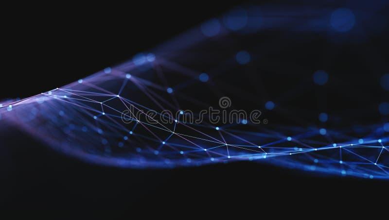Onda computacional de la nube libre illustration